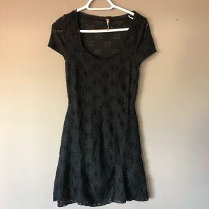 Free People Black Lace mini dress size small